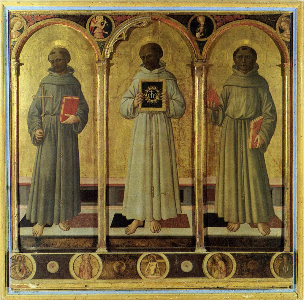 Three Franciscan Saints By Domenico Di Michelino