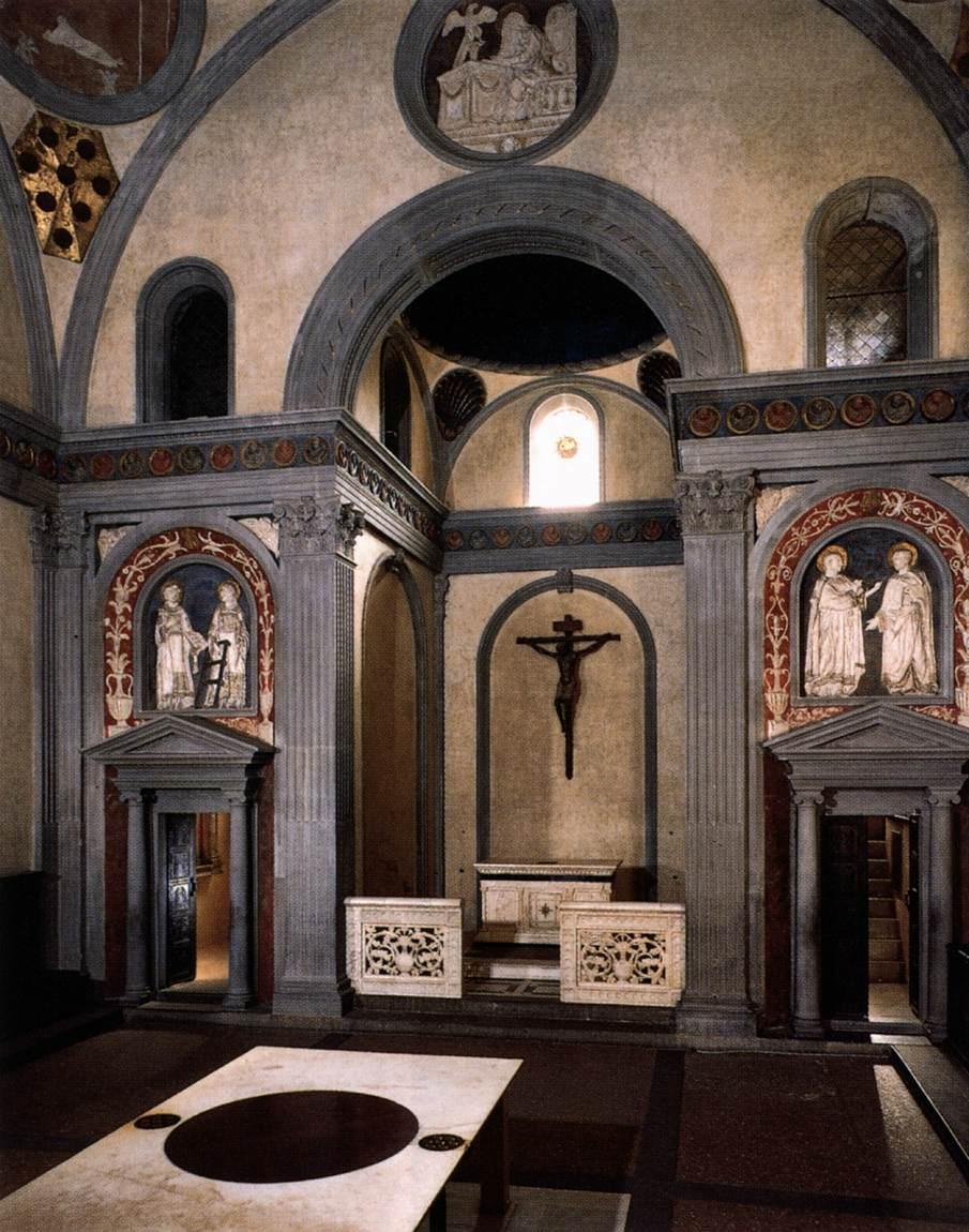 The old sacristy of san lorenzo in florence for Interior iglesia san lorenzo brunelleschi