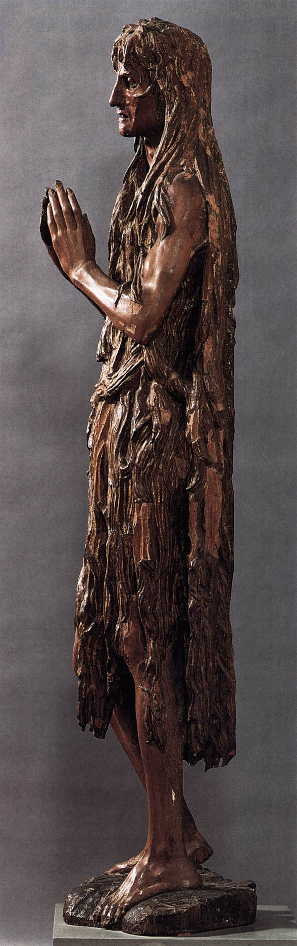 st mary magdalene side view c 1457 polychrome wood height 188 cmDonatello Mary Magdalene