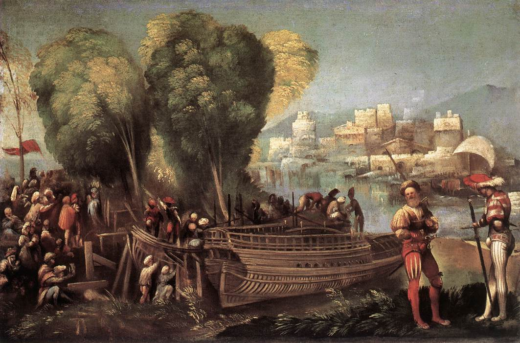 Aeneas And Achates On The Libyan Coast By Dossi Dosso