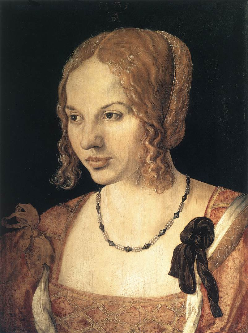 Portrait Ofa Girl 14 Years In Nature Stock Image: Portrait Of A Young Venetian Woman By DÜRER, Albrecht