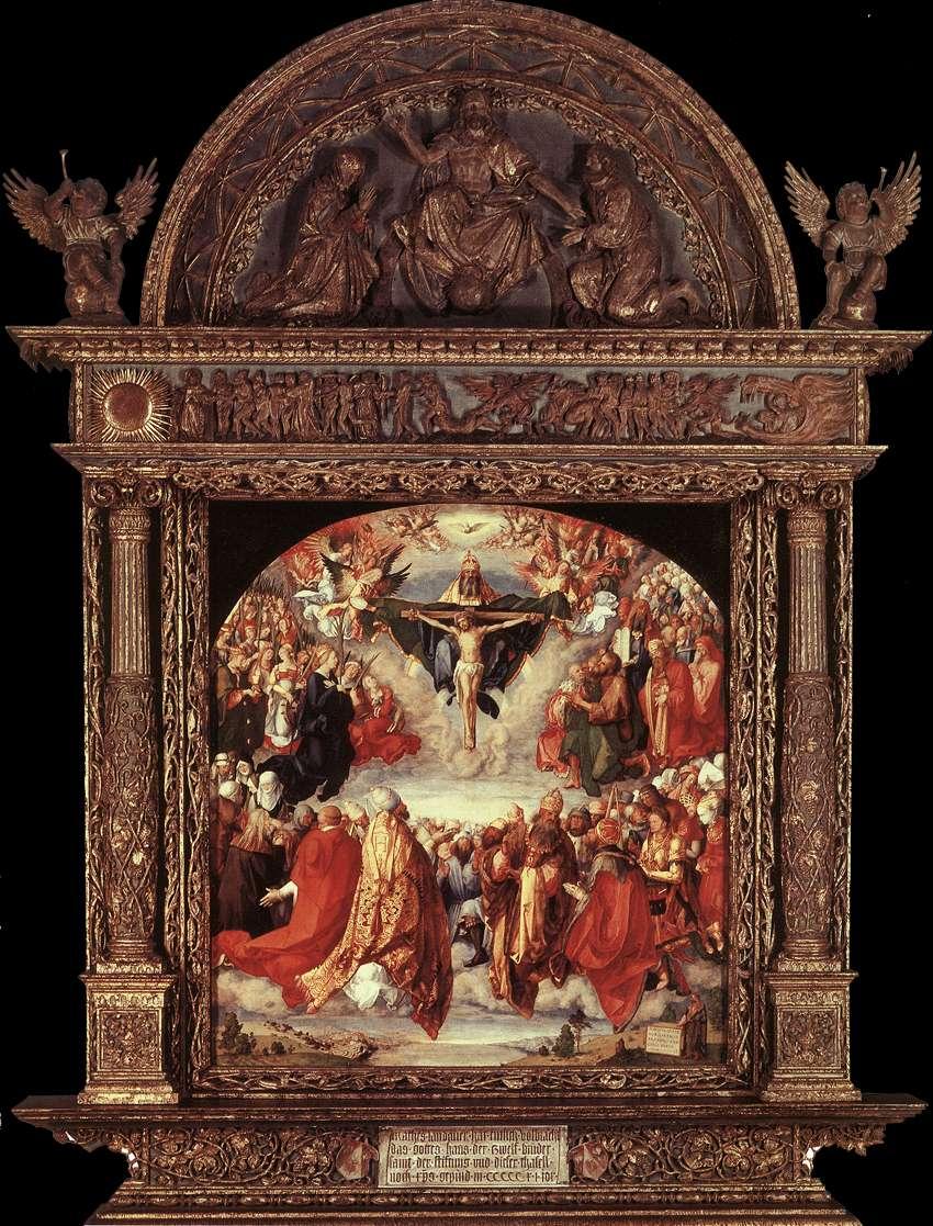 The Adoration of the Holy Trinity (Landauer Altar) by DÜRER