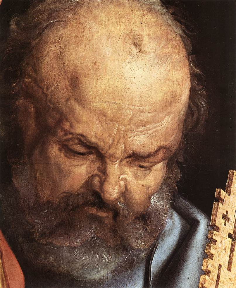 "St. Peter in ""The Four Holy Men"" (Albrecht Dürer), Oil on panel, 1526, Alte Pinakothek, Munich"