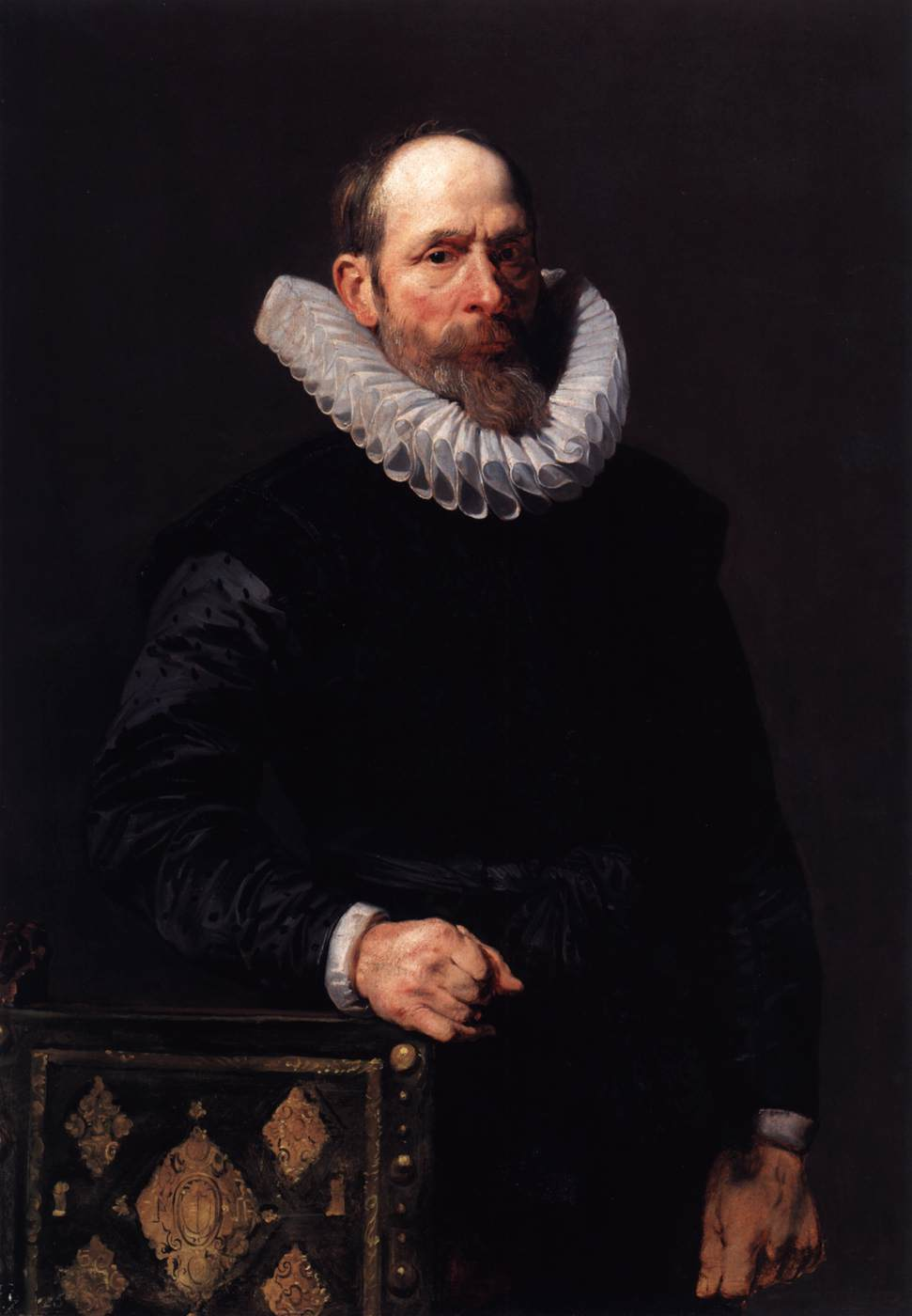 Portrait Of An Old Man By Dyck Sir Anthony Van