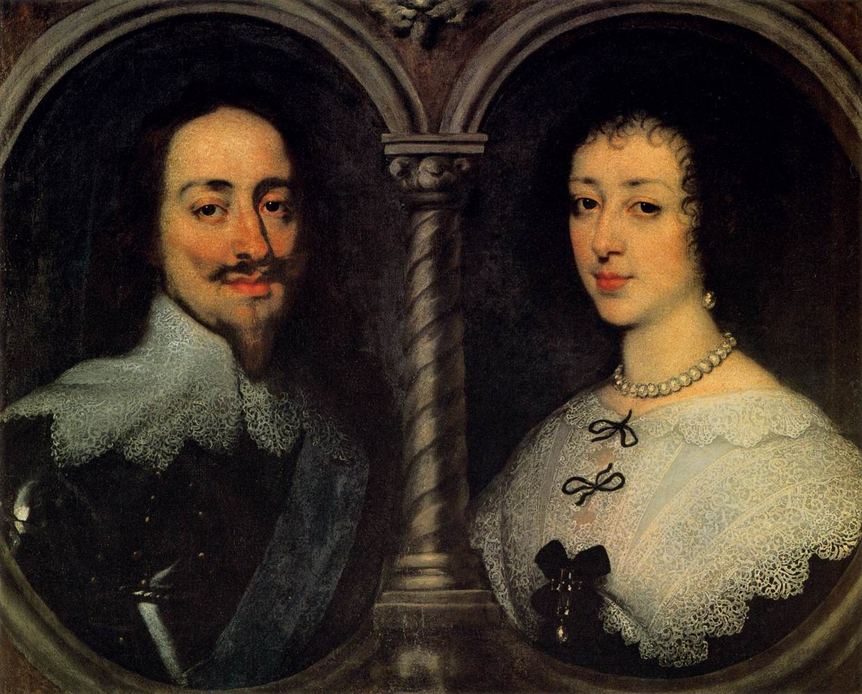 DYCK, Sir Anthony Van Charles I of England and Henrietta of France 1600s