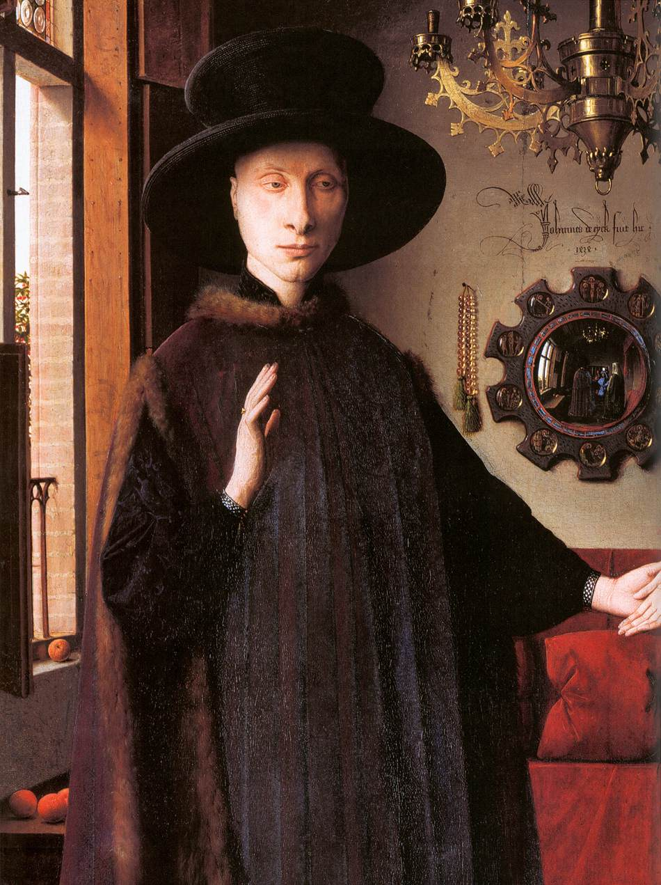 an analysis of the artwork giovanni arnolfini and his bride Of giovanni arnolfini and his wife, or other titles) is a 1434 oil painting on oak  all art historians, his analysis of the symbolic function of the details is broadly.