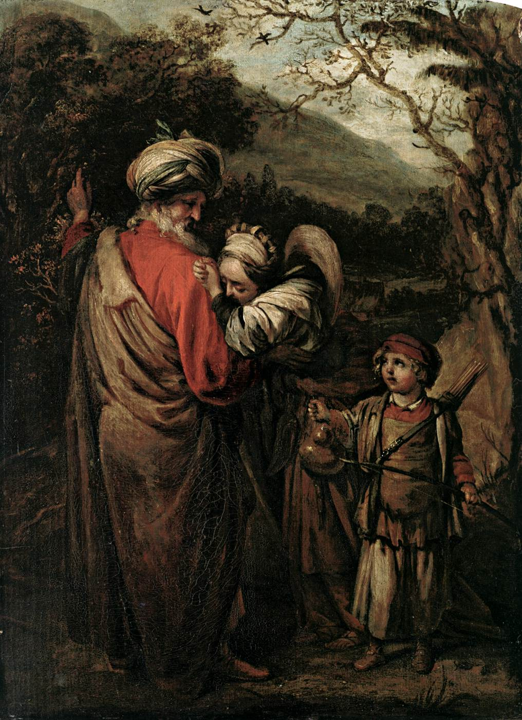abraham dismissing hagar and ishmael 1658 oil on wood 50 x