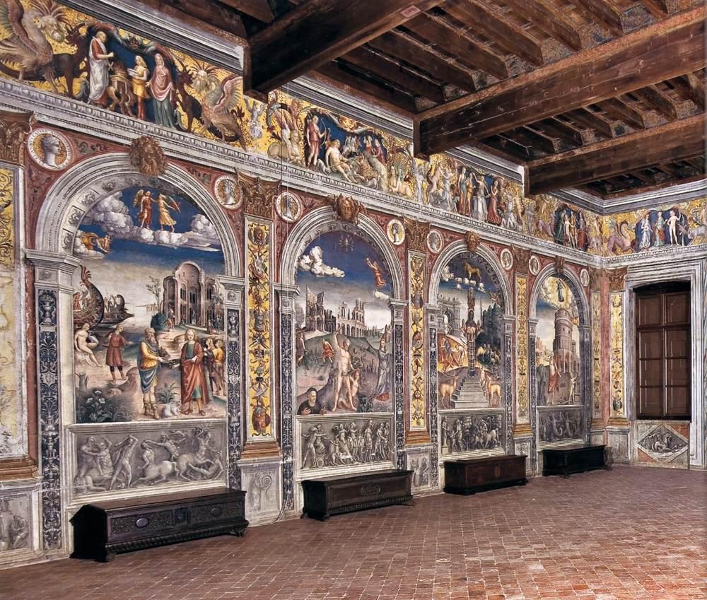 View Of The Sala Dello Zodiaco By Falconetto Giovanni Maria