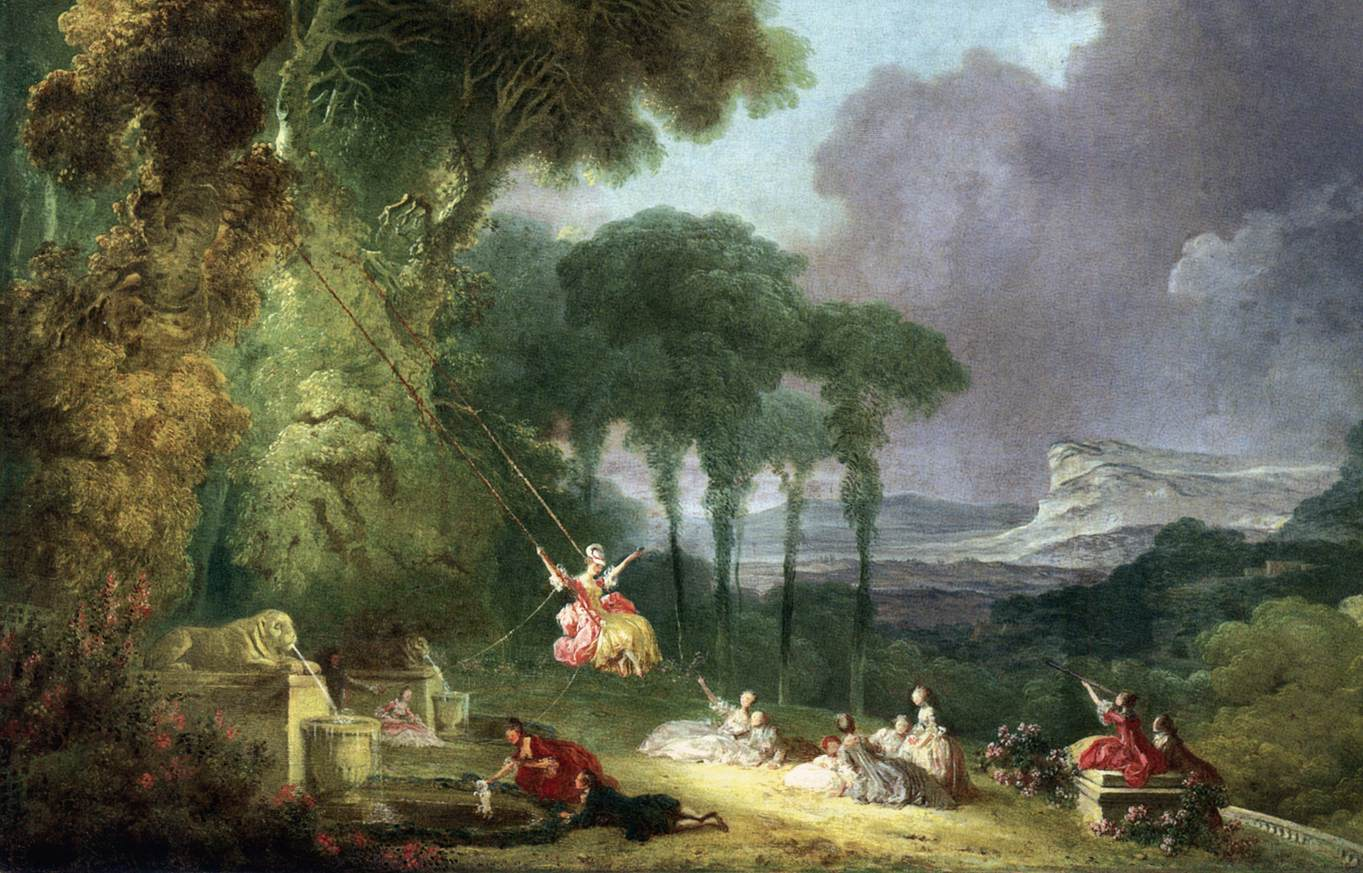 the swing portrays by jean honor fragonard Died august 22nd, 1806, paris famous french rococo-style painter and print-maker worked in chardin's workshop and studied under boucher, both other famous rococo style artists influences early on, fragonard received a heavy influence from boucher, who mentored him he knew so much of boucher's.