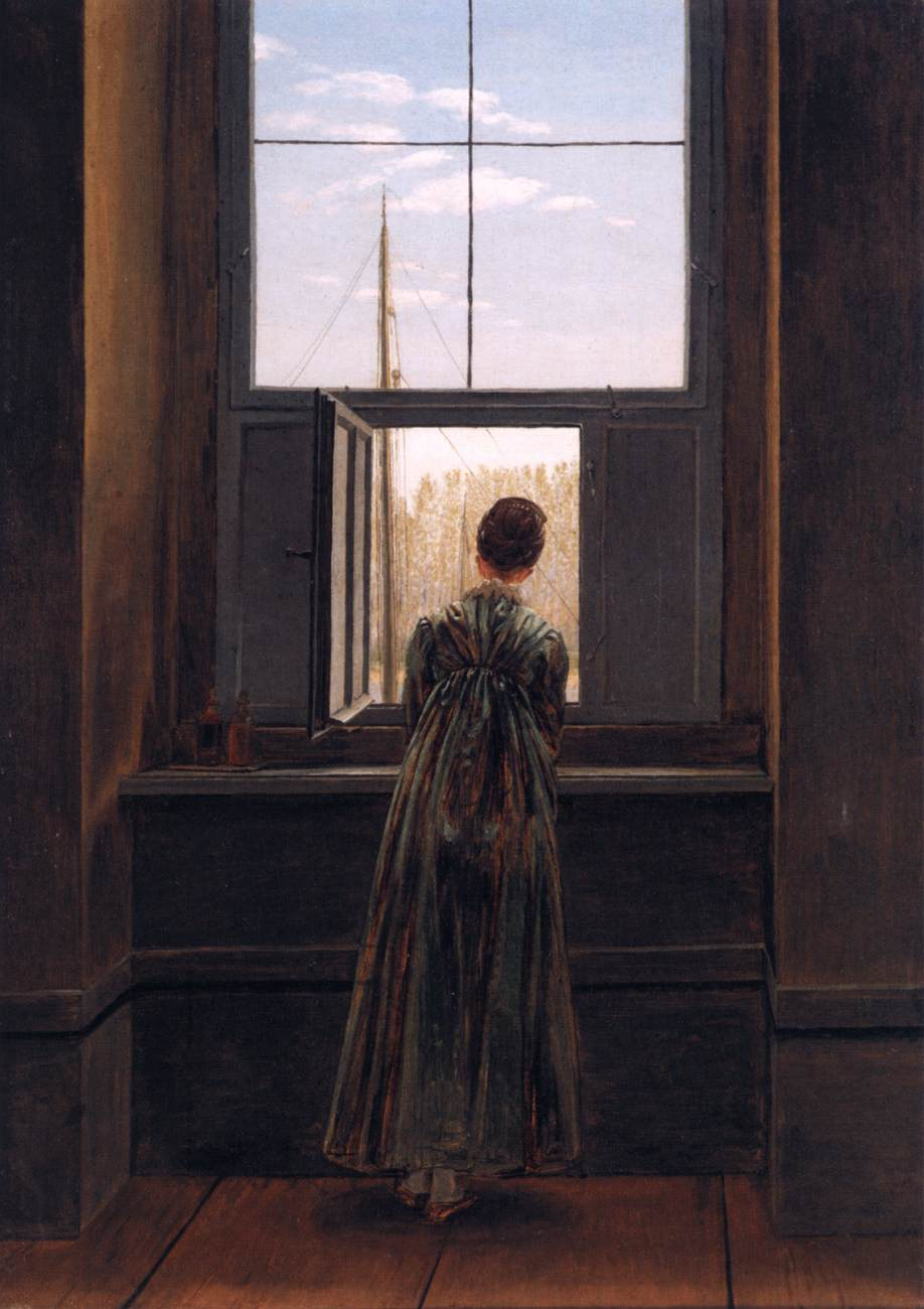 file caspar david friedrich woman at a window wikimedia commons. Black Bedroom Furniture Sets. Home Design Ideas