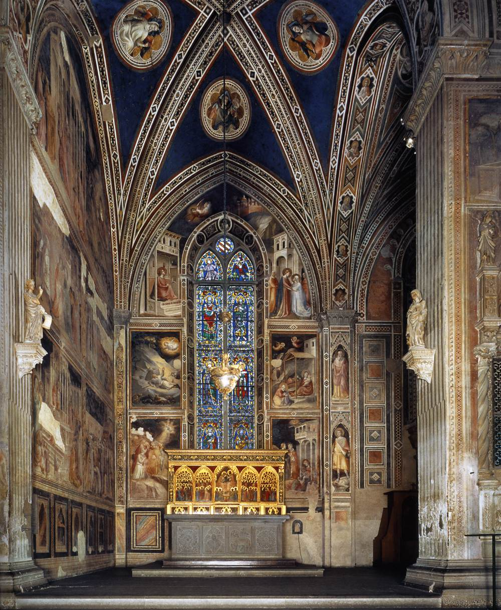 Frescoes In The Baroncelli Chapel Santa Croce Florence
