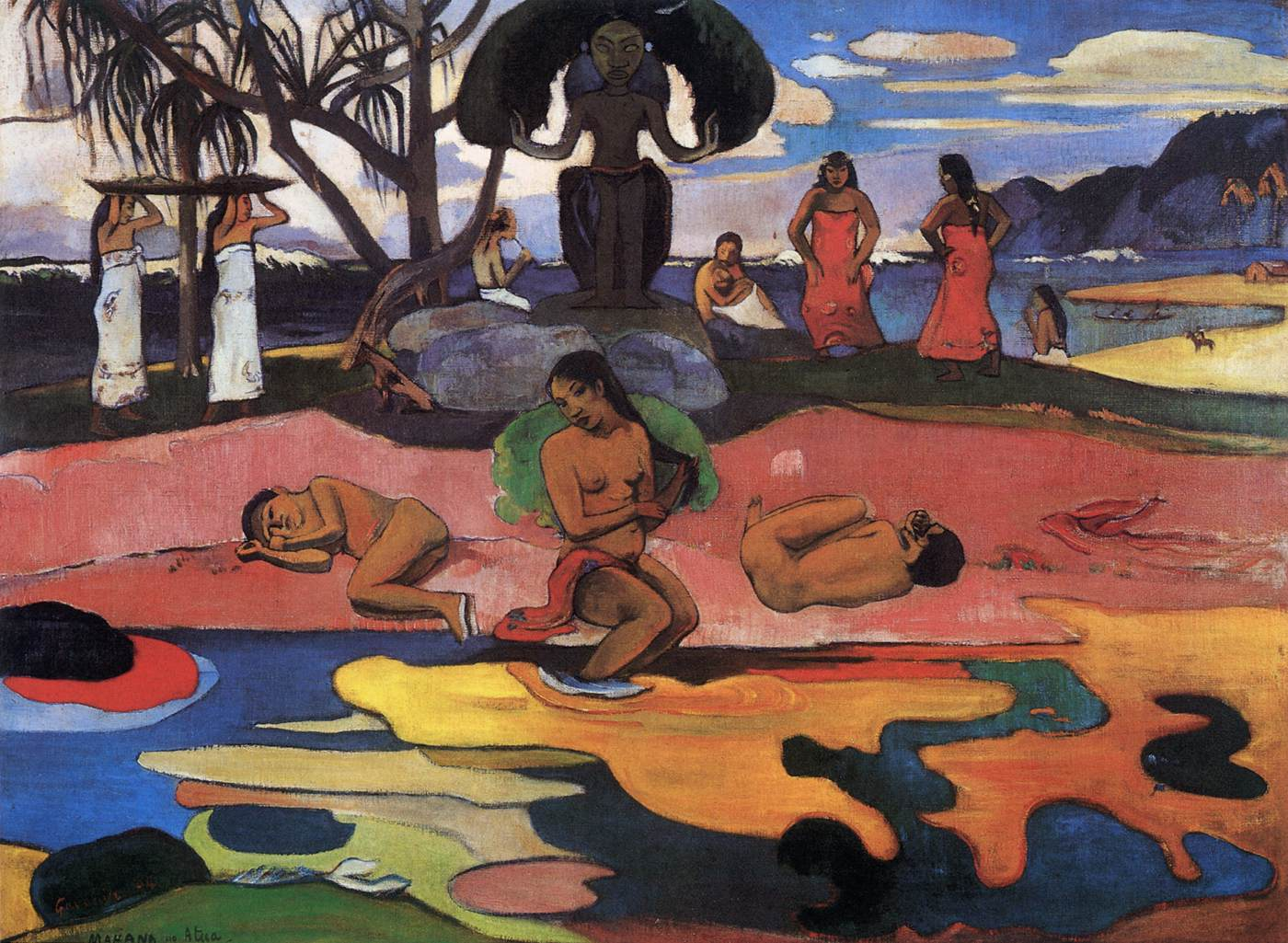 Mahana no atua (The Day of the God) by GAUGUIN, Paul