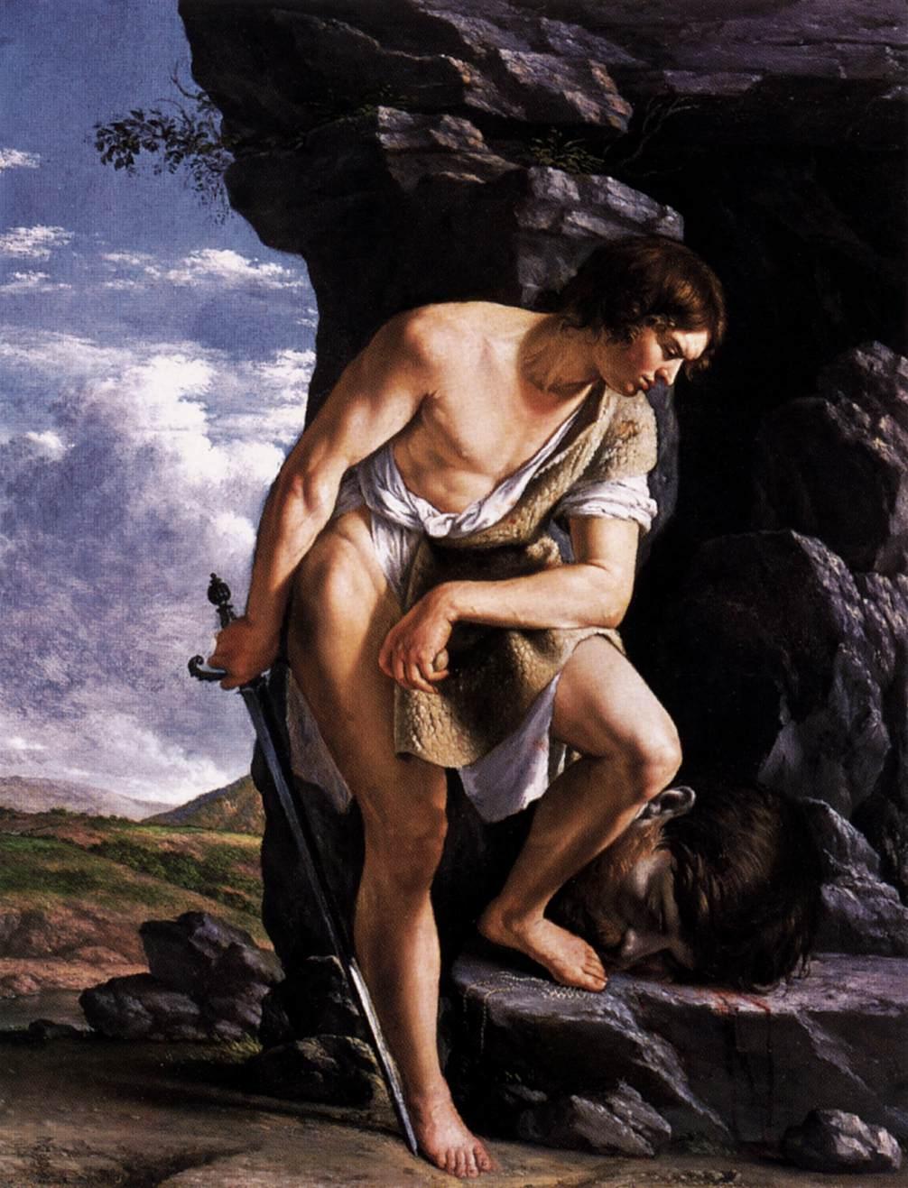 David Contemplating the Head of Goliath by GENTILESCHI, Orazio