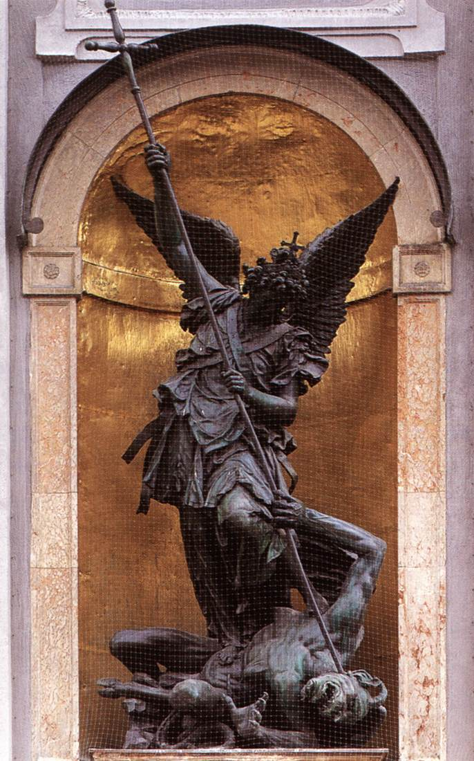 St Michael Slaying The Devil By Gerhard Hubert