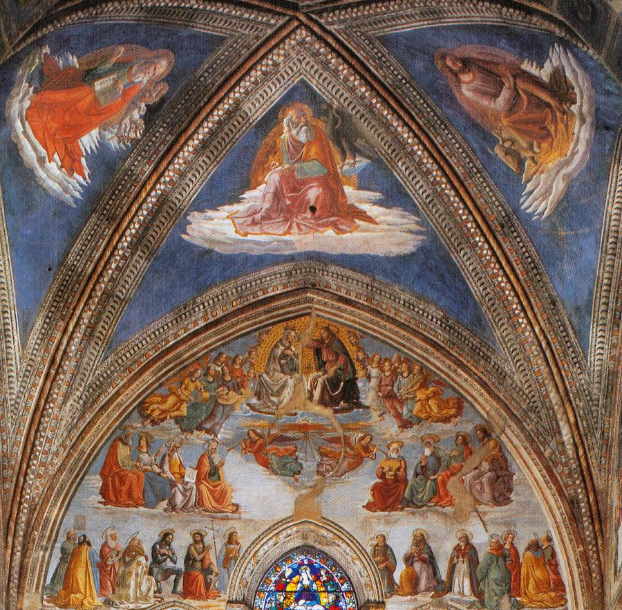 Image result for Ghirlandaio's fresco cycle in the Tornabuoni Chapel