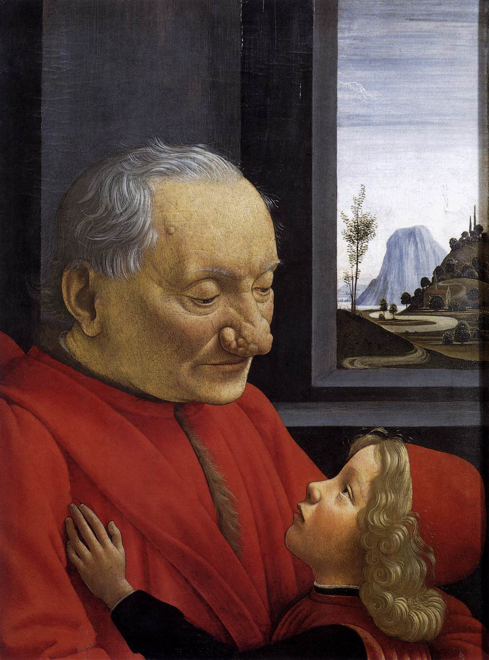 An Old Man and His Grandson by GHIRLANDAIO, Domenico