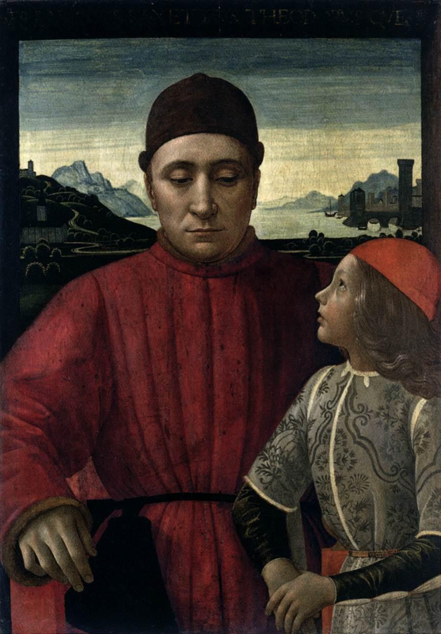 Francesco Sassetti and His Son Teodoro II by GHIRLANDAIO ...