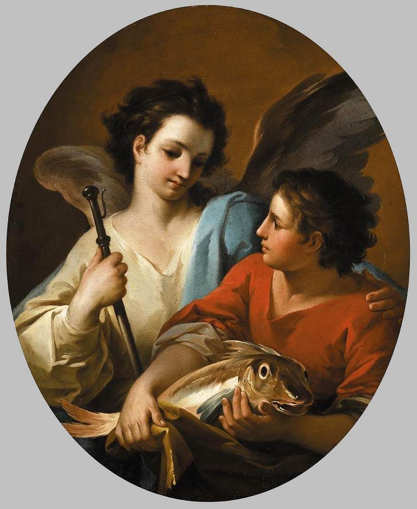 GIAQUINTO, Corrado: Tobias and the Angel, c1740