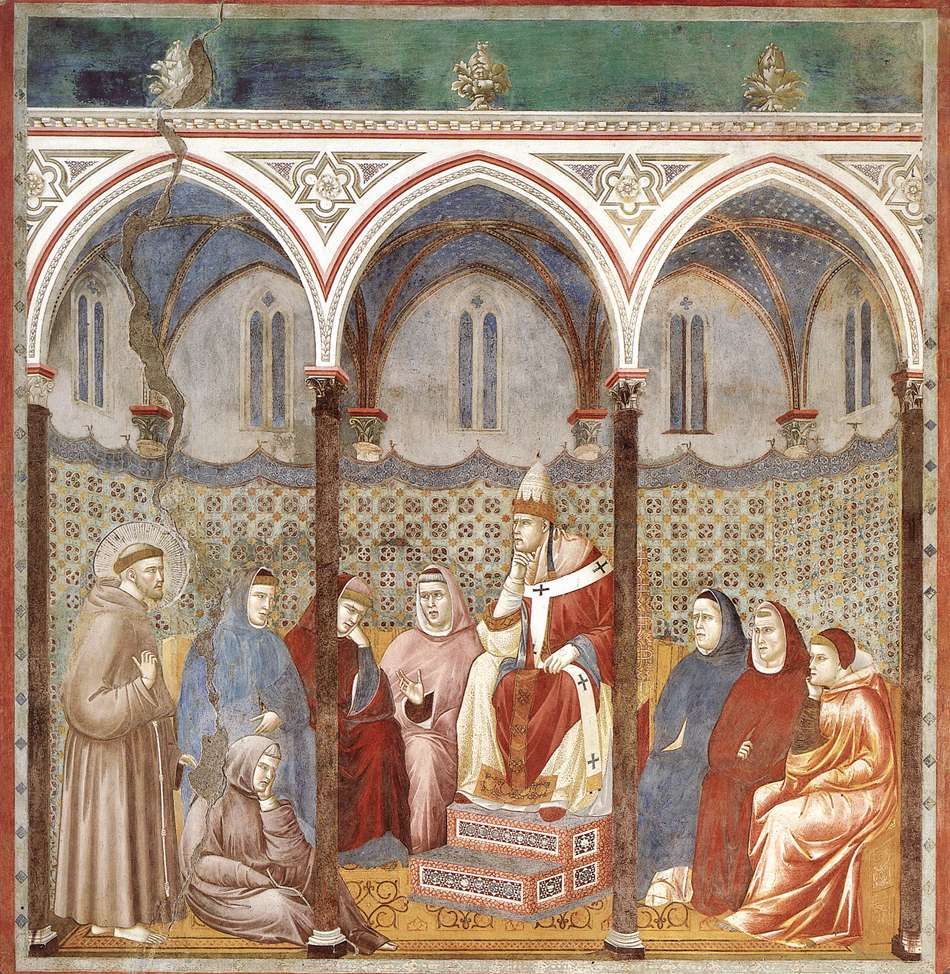 miracle of the crib at greccio _____ is typically regarded as the first gothic building  the miracle of the crib at greccio depicts st  self-portrait kneeling before the virgin and.
