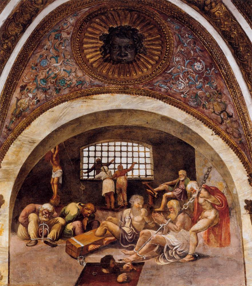 Frescoes in various rooms 1526 28 for Camera dei