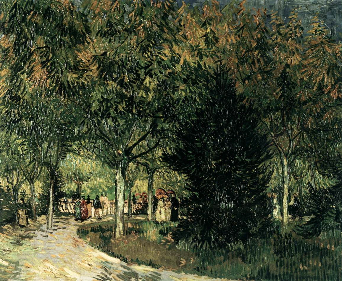 A Lane In The Public Garden At Arles By Gogh Vincent Van