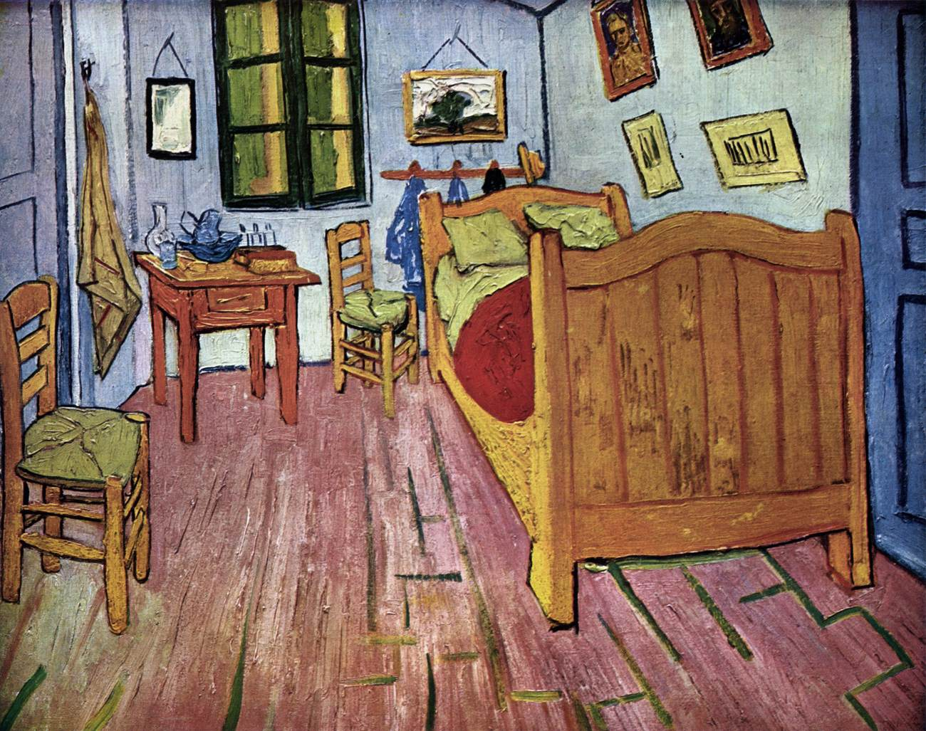 The gallery for falling autumn leaves vincent van gogh for Bedroom in arles