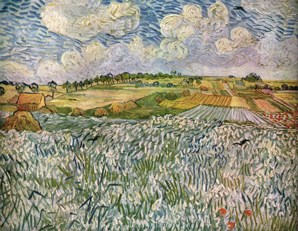 Vincent van gogh landscape with snow beatiful landscape for Nearby landscapers