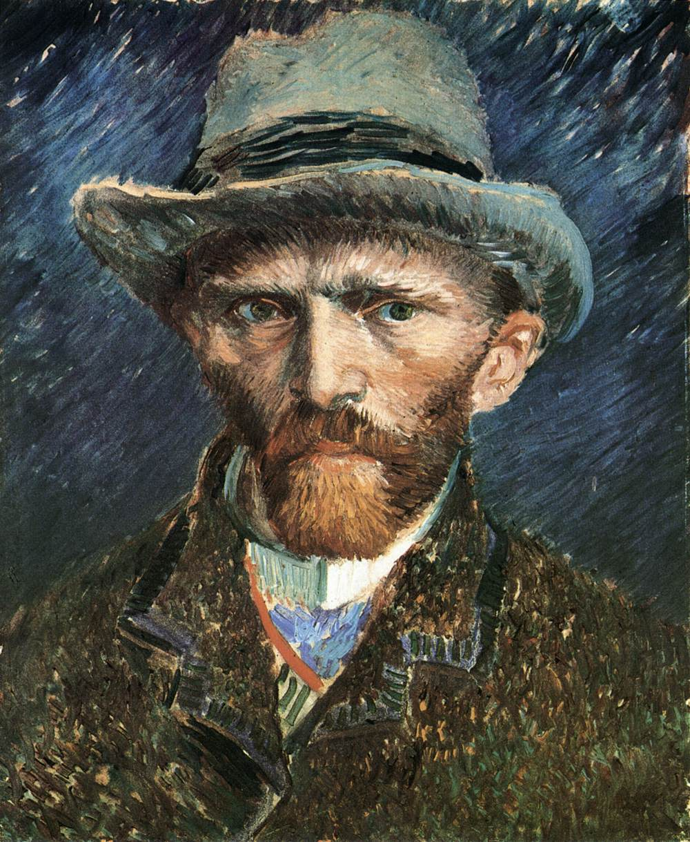 abef0672e91cf Self-Portrait in a Grey Felt Hat Winter 1886/87, Paris Oil on cardboard, 41  x 32 cm. Stedelijk Museum, Amsterdam