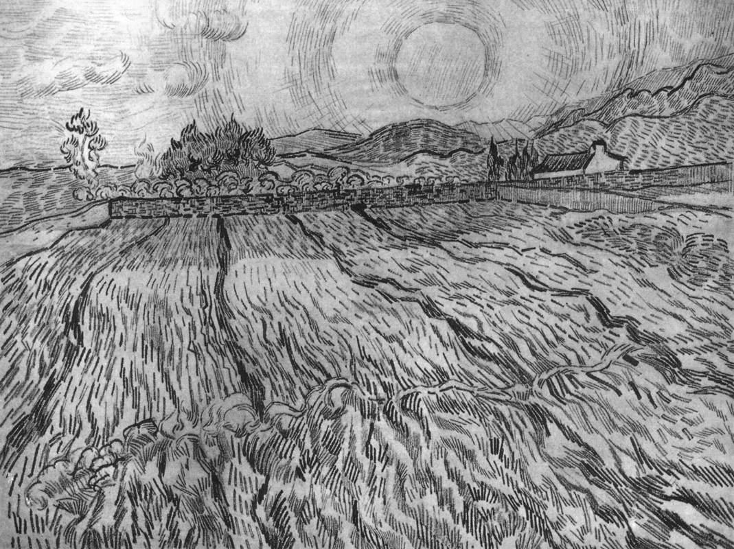 Line Drawing Setting Sun : Drawings saint rmy auvers sur oise