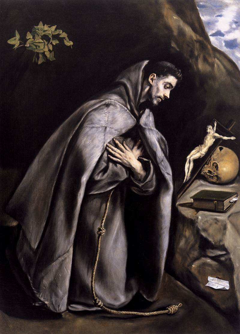 st francis meditating by greco el