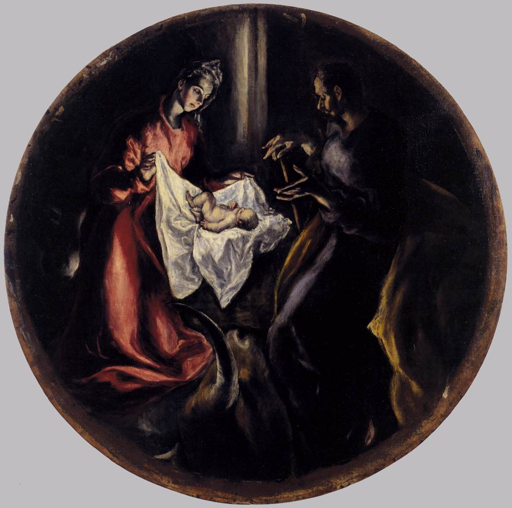 Baby Jesus is born. Image located on Web Gallery of Art at https://www.wga.hu.