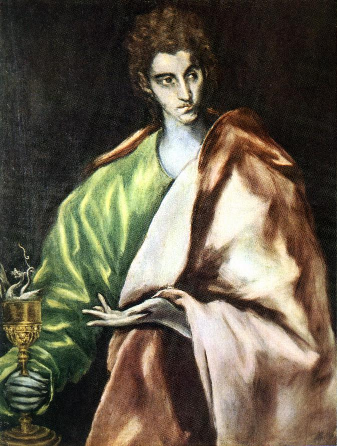 El Greco (Domenikos Theotokopoulos): Apostle St John the Evangelist (1606), Oil on canvas, Museo del Greco, Toledo.
