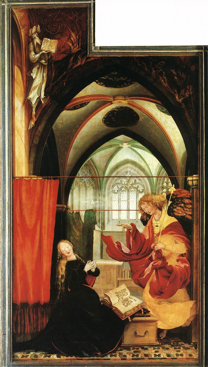 Grunewald Isenheim Altarpiece The Annunciation by GR...