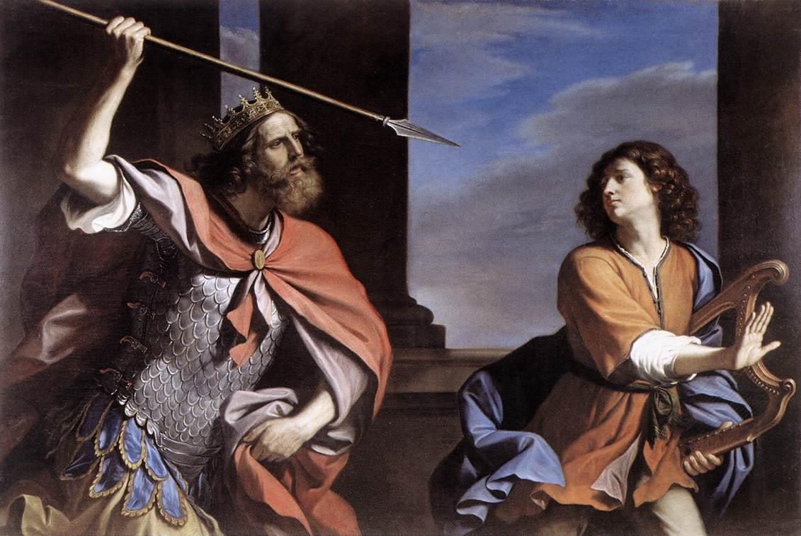 Guercino 다윗을 공격하는 사울