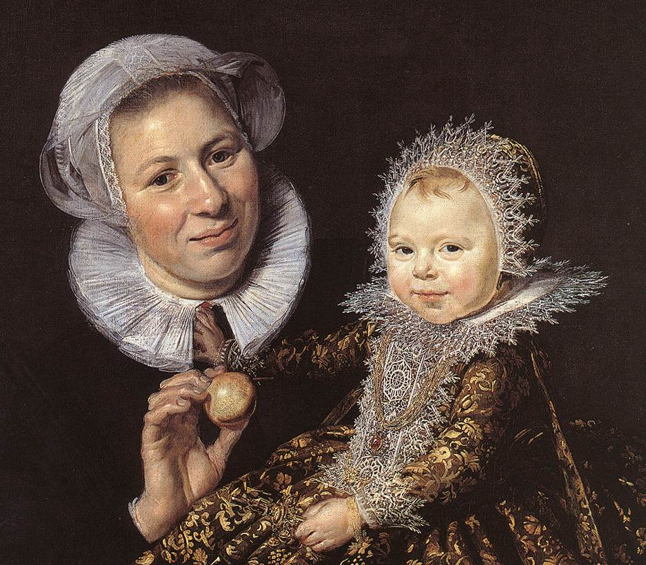HALS, Frans The Infant Catharina Hooft with her Nurse (detail) c1619-20