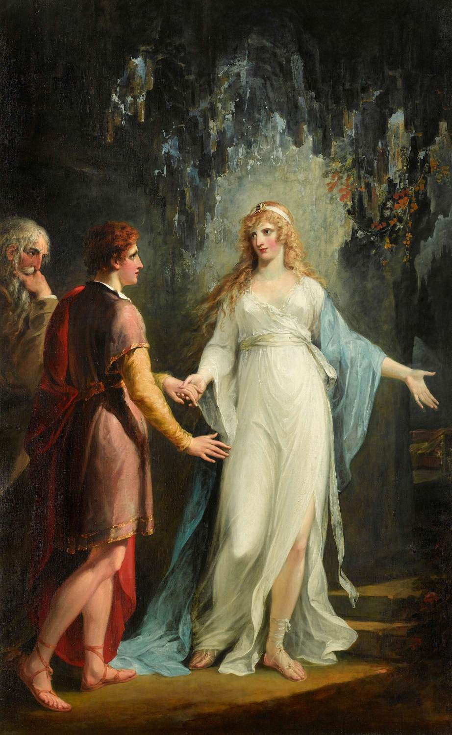 Calypso receiving Telemachus and Mentor in the Grotto by