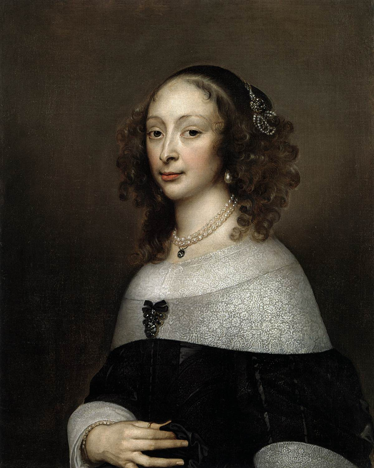 Portrait Of A Woman By Hanneman Adriaen