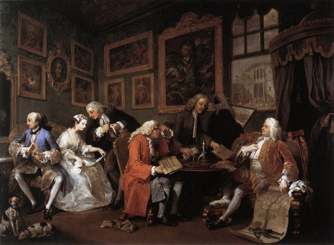 Marriage la mode by hogarth william for Artist mural contract