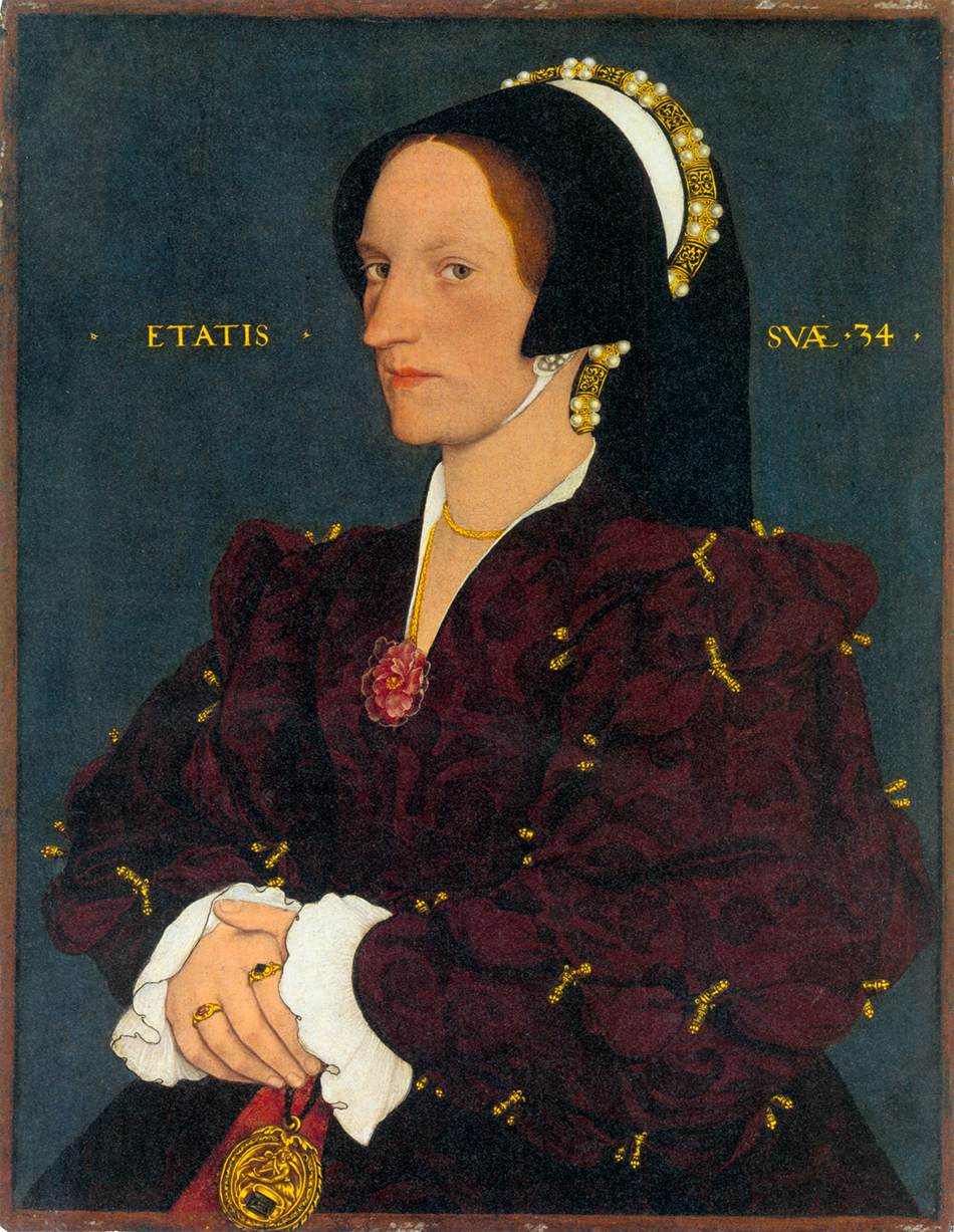 HOLBEIN, Hans the Younger Portrait of Margaret Wyatt, Lady Lee c1540