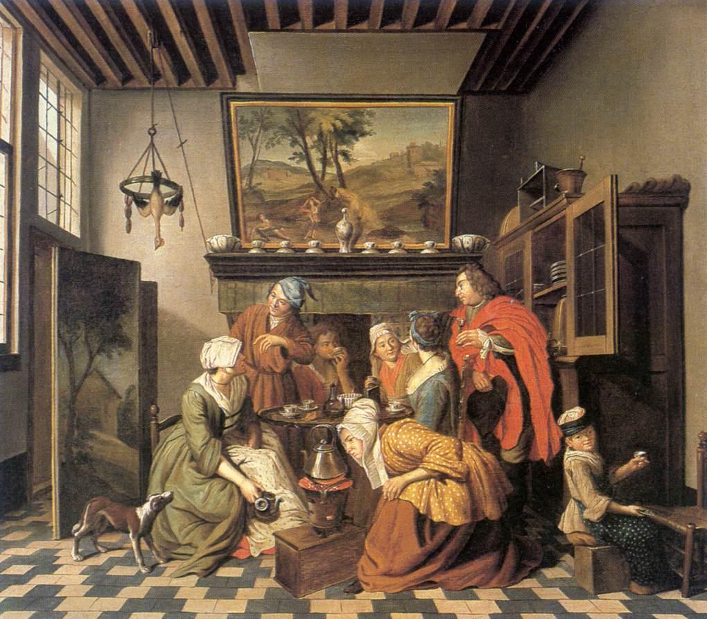 1800 S Colonial Scene On Demand: Tea Time By HOREMANS, Jan Jozef II