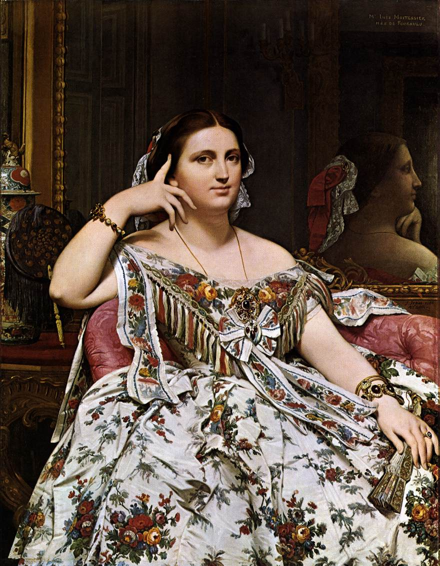Madame Moitessier by INGRES, Jean-Auguste-Dominique