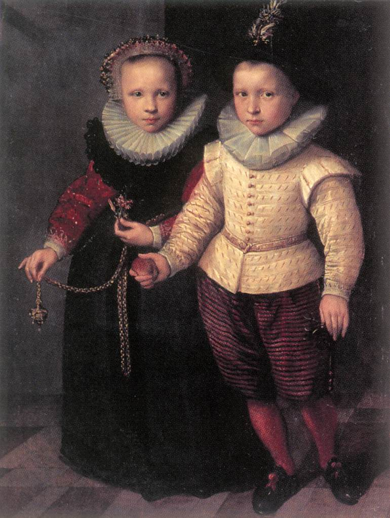 KETEL, Cornelis (1548-1616) Double Portrait of a Brother and Sister
