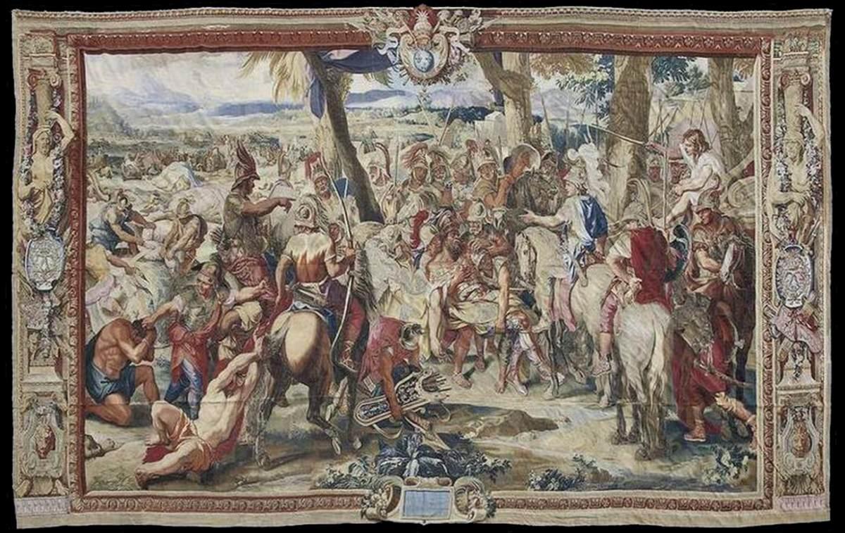 452e3a7fcacbd4 Alexander and Porus 1670s. Tapestry Musée du Louvre