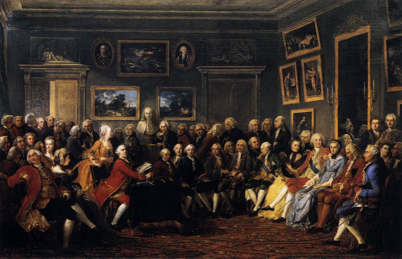 In the Salon of Madame Geoffrin in 1755