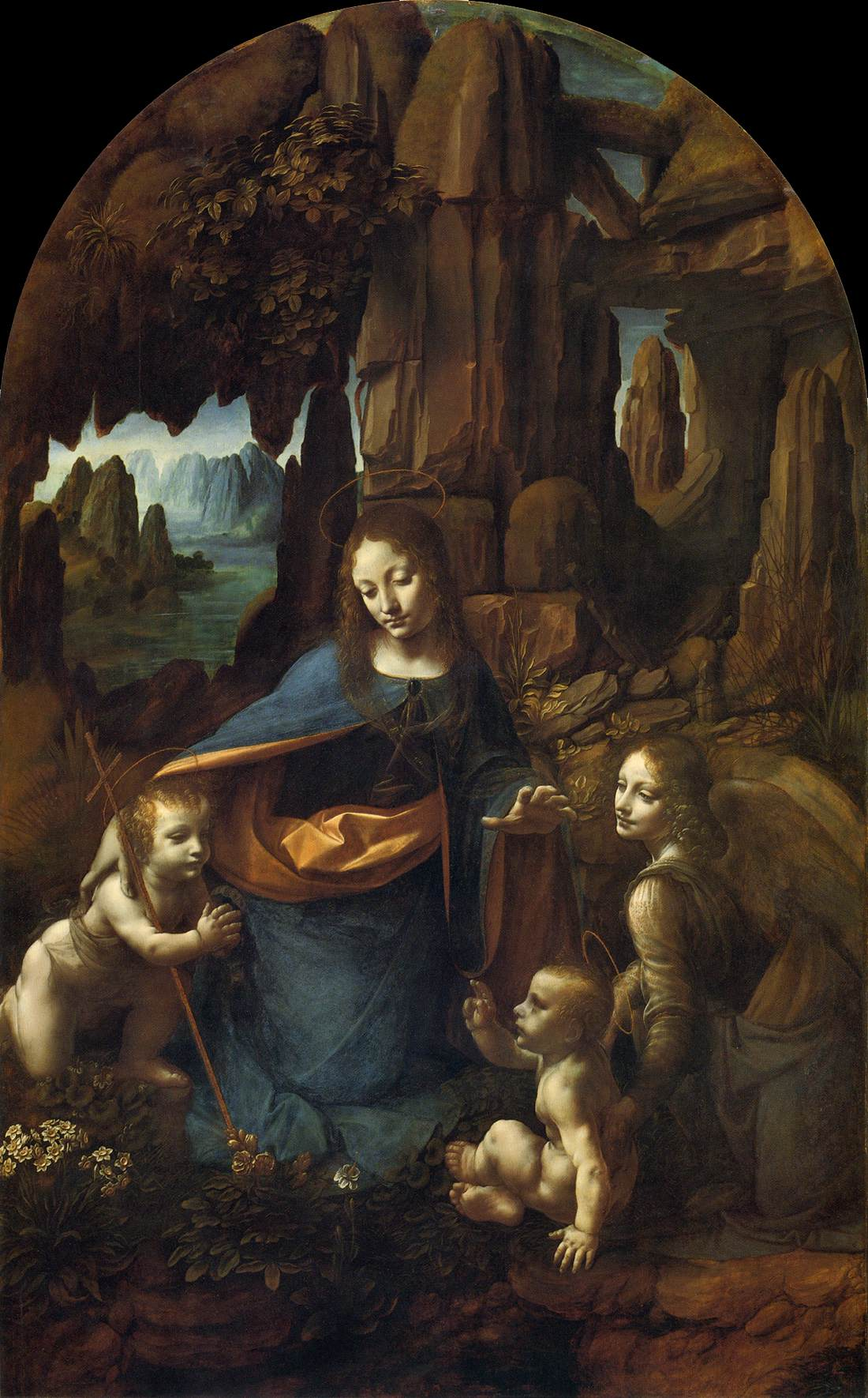 The Virgin of the Rocks - by Leonardo Da Vinci
