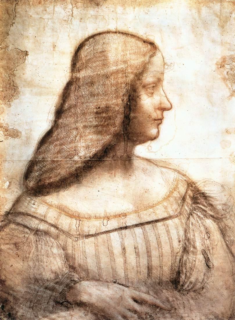 Isabella d'Este by LEONARDO da Vinci