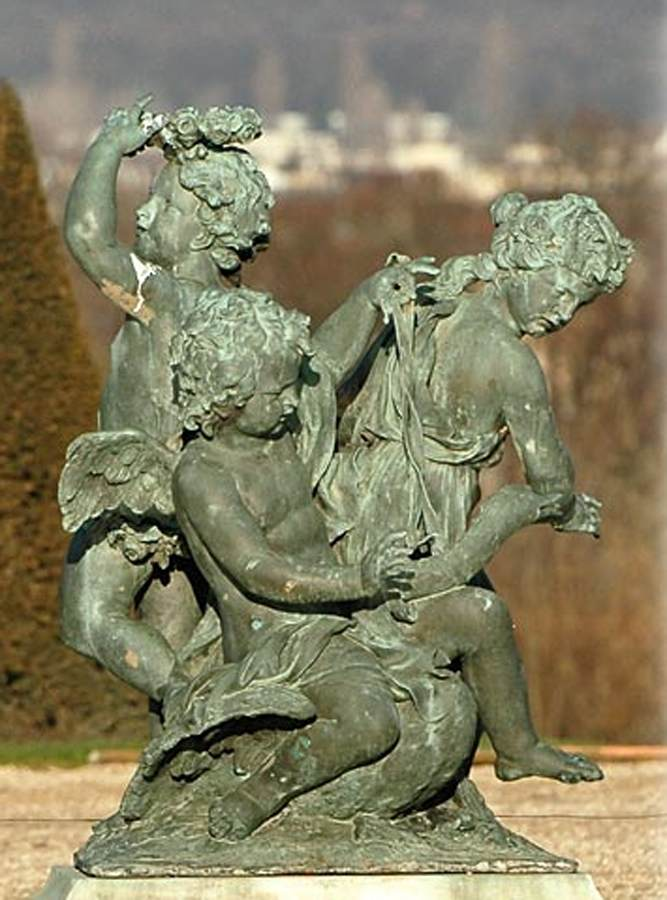 Three Children Playing With A Swan By Lespingola Fran 231 Ois