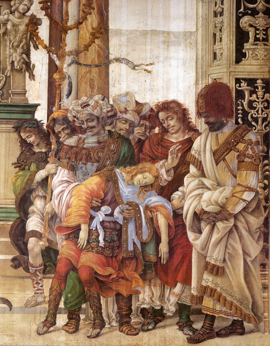 Italian Florence: Frescoes In The Strozzi Chapel, Santa Maria Novella, Florence