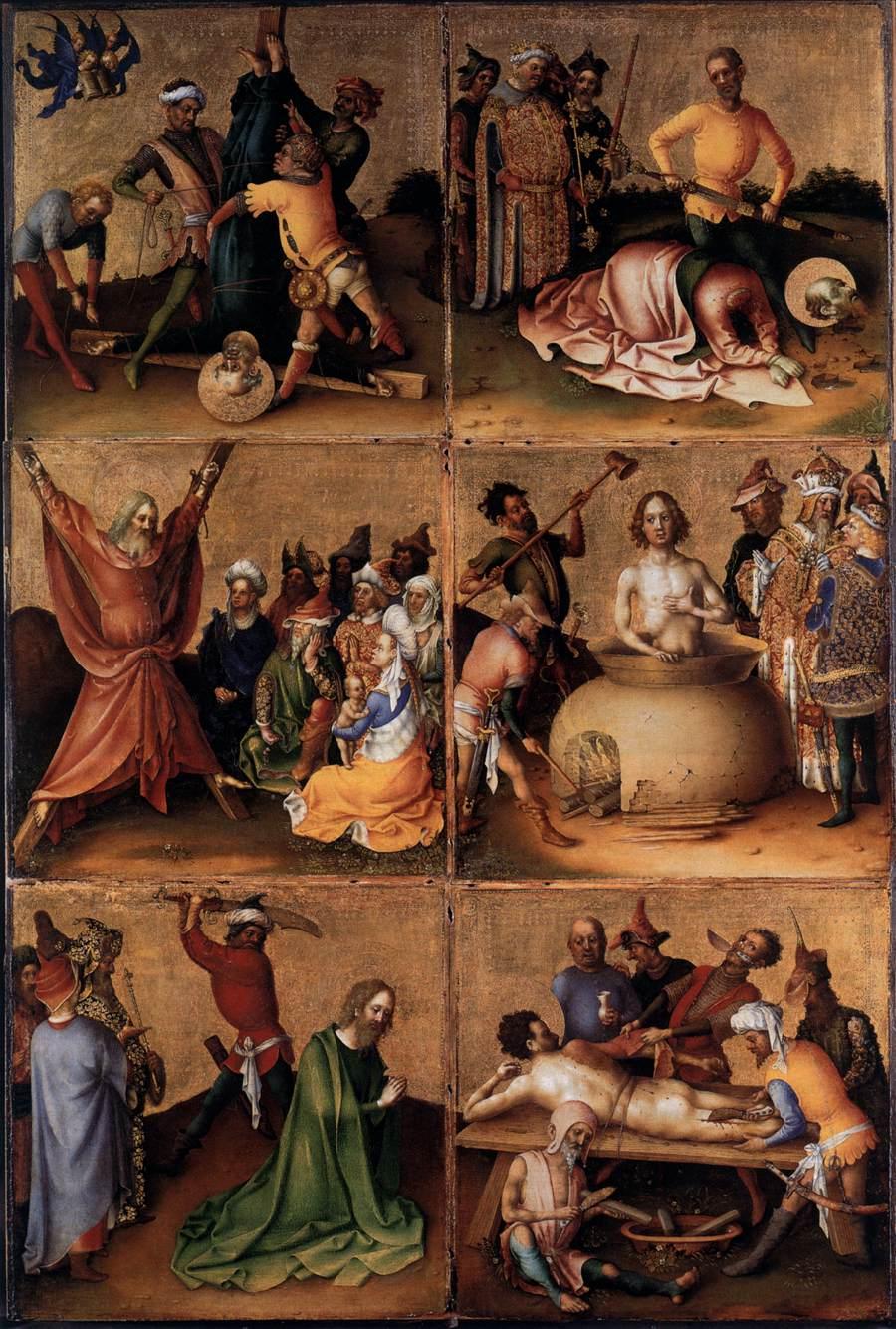 Martyrdom of the Apostles Altarpiece (interior left wing