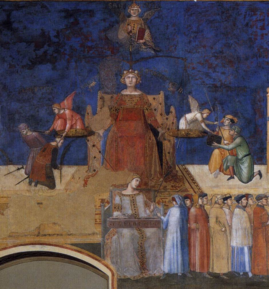 Sala Dei Nove Good Government.Web Gallery Of Art Searchable Fine Arts Image Database